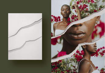 Ripped Paper Collage Photography Mockup