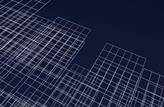 grids on blue background