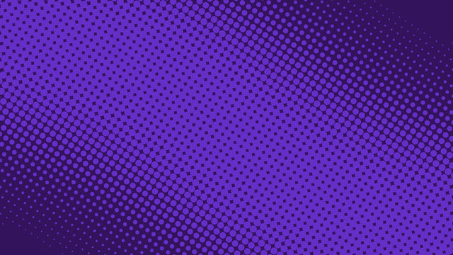 Purple pop art background in retro comic style with halftone dots design, vector illustration eps10