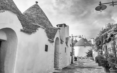 Typical trulli buildings in Alberobello, Apulia, Italy Fotomurales