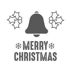 Christmas bell. Jingle bells. Vector illustration.