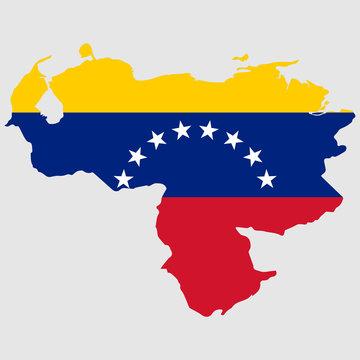 Venezuela map flag Vector illustration eps 10