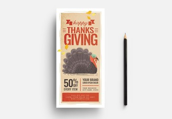 Thanksgiving Event Flyer Layout