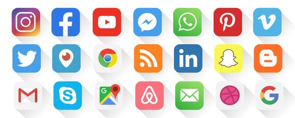 popular social media logo