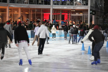 ice skating in bryant park in manhattan at christmas