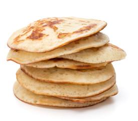 Pancakes  stack on white background