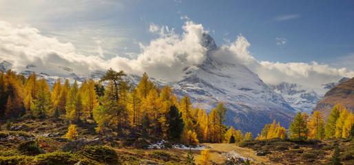 Wall Mural - Matterhorn and Autumn