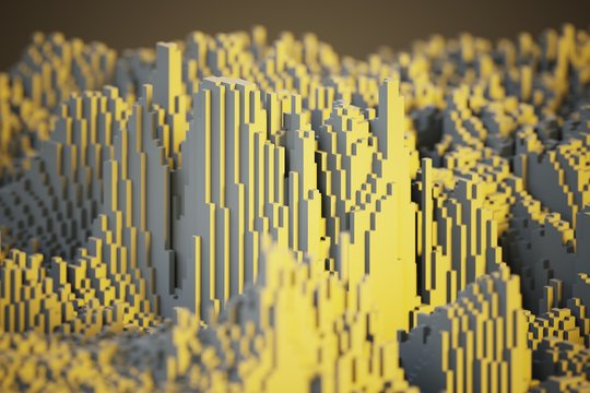 voxel close-up background computer generated illustration