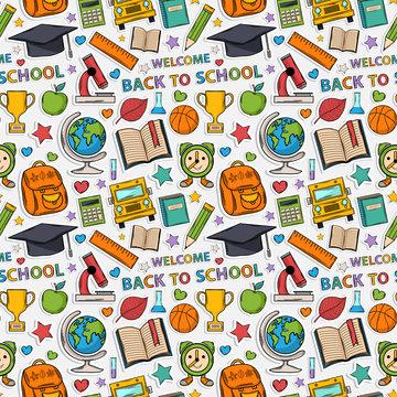 Sticker school pattern.