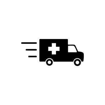 Ambulance Icon Vector. Fast Response ambulance icon vector design