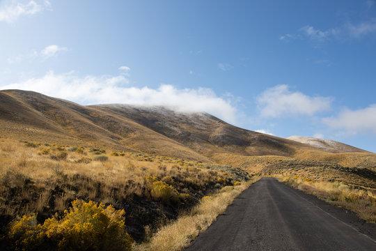 Road Climbing up Winnemucca Mountain, Nevada