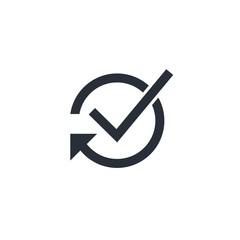 Оutcome . Vector linear icon on a white background.