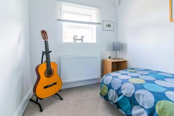 bedroom in renovated refurbished house