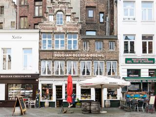 Shops in city centre of Antwerp, Belgium