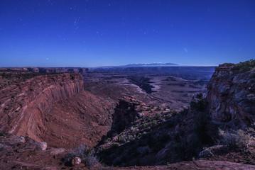 Night sky above Buck Canyon overlook in Canyonlands National Park, Utah