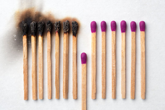 Have a match to give up and avoid other being burned