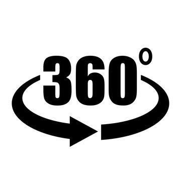 Panorama 360 vector arrow icon