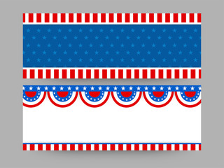 Web headers for 4th of July celebration.