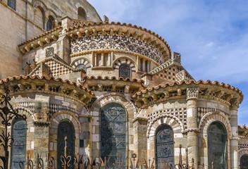 Keuken foto achterwand Oude gebouw Basilica of Notre-Dame du Port, Clermont-Ferrand, France
