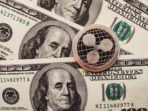 Ripple xrp physical coin in US dollars. Digital currency