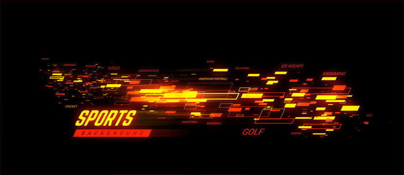 Sports golden geometric background llustration. Can be use for sport news, poster, presentation.