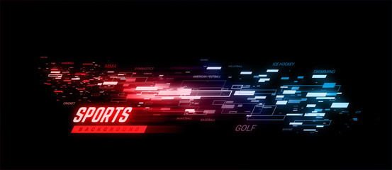Sports geometric background llustration. Can be use for sport news, poster, presentation.