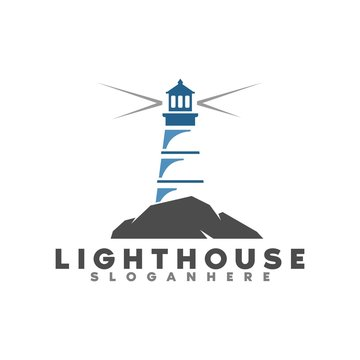 lighthouse logo, icon and template