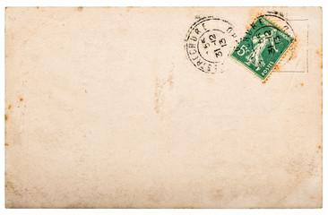 Used paper Vintage handwritten postcard letter edges