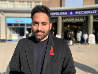 Ali Milani, the Labour Party candidate standing against Boris Johnson in the upcoming general election poses for a photograph in the Uxbridge and South Ruislip constituency