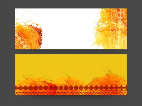 Abstract web header or banner set.