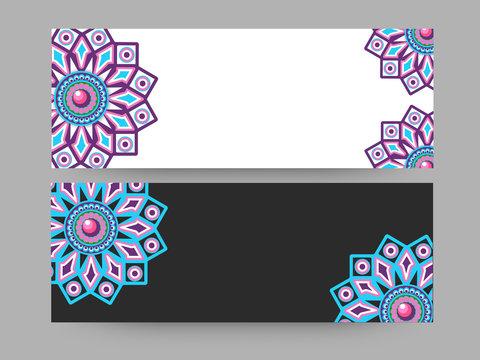Floral website headers design.