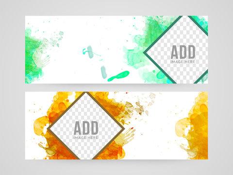 Abstract website header or banner design.