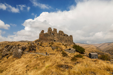 Medieval fortress Amberd on the slope of mount Aragats in Armenia