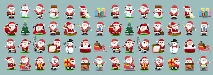 Santa Clauses set for Christmas
