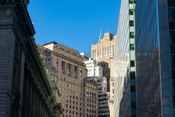 Skyscrapers in the Financial District of New York City