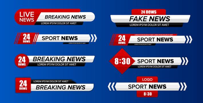 Tv news bar