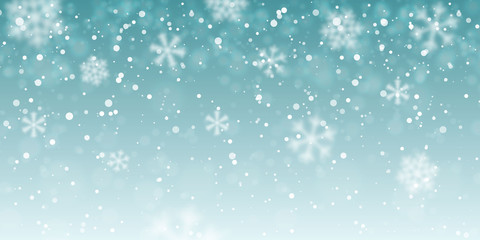 Christmas snow. Falling snowflakes on transparent background. Snowfall. Vector illustration
