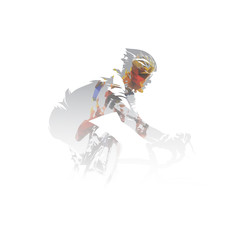 Custom vertical slats sports with your photo Cycling, road cyclists multi exposure vector illustration
