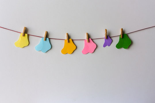 Premature baby day concept. Tiny socks
