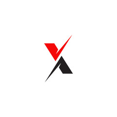 X letter initial icon logo design template