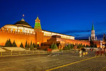 Lenin's Mausoleum at dusk, Moscow