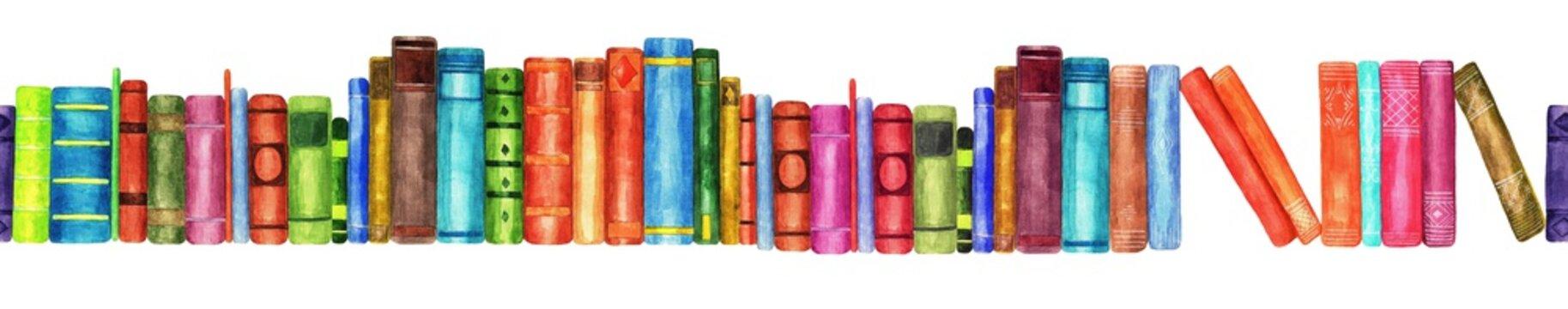 Books, seamless pattern