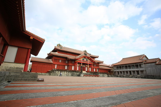 Shurijo or Shuri Castle the main courtyard structures of the castle were destroyed in a fire