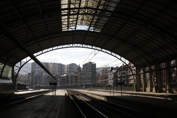 Aluminium Prints Train Station Train station in Bilbao