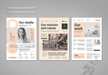 Pale Peach and Light Gray Flyer Layout