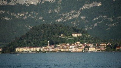 Wall Mural - Italian City of Bellagio and the Lake Como Summer Landscape.