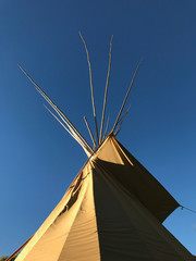 Teepee and Blue Sky in the Colorado Rockies