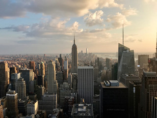 View of Midtown Manhattan at Sunset From Up High