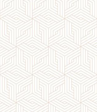 Vector geometric seamless pattern. Modern geometric background with hexagonal tiles.