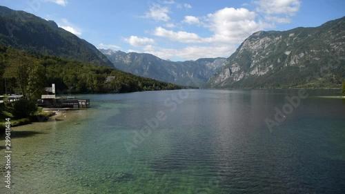 Wall mural Scenic Lake Bohinj in the Slovenia. Fall Season at the Lake. Bohinj Valley of the Julian Alps. Upper Carniola Region, and Part of Triglav National Park.